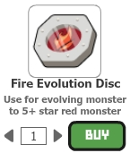 Fire evolution disc