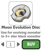 Moon evolution disc