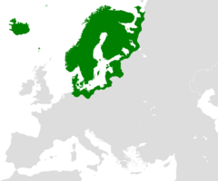 Large Swedish Map