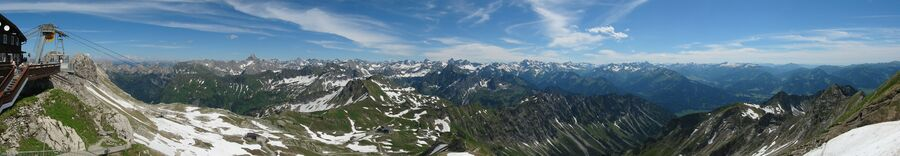 View from the terrace on the Nebelhorn, alps, southern Germany