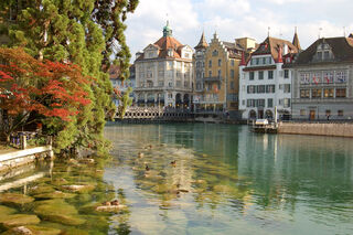 The river Reuss in Lucerne