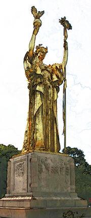Ven. Lagoon. Statue