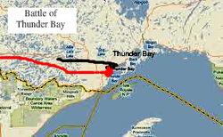 Battle of Thunder Bay battle map