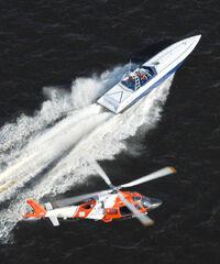 USCG pursuing gofast boat