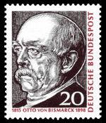 DBP 150. Geburtstag Otto von Bismarck 20 Pfennig 1965