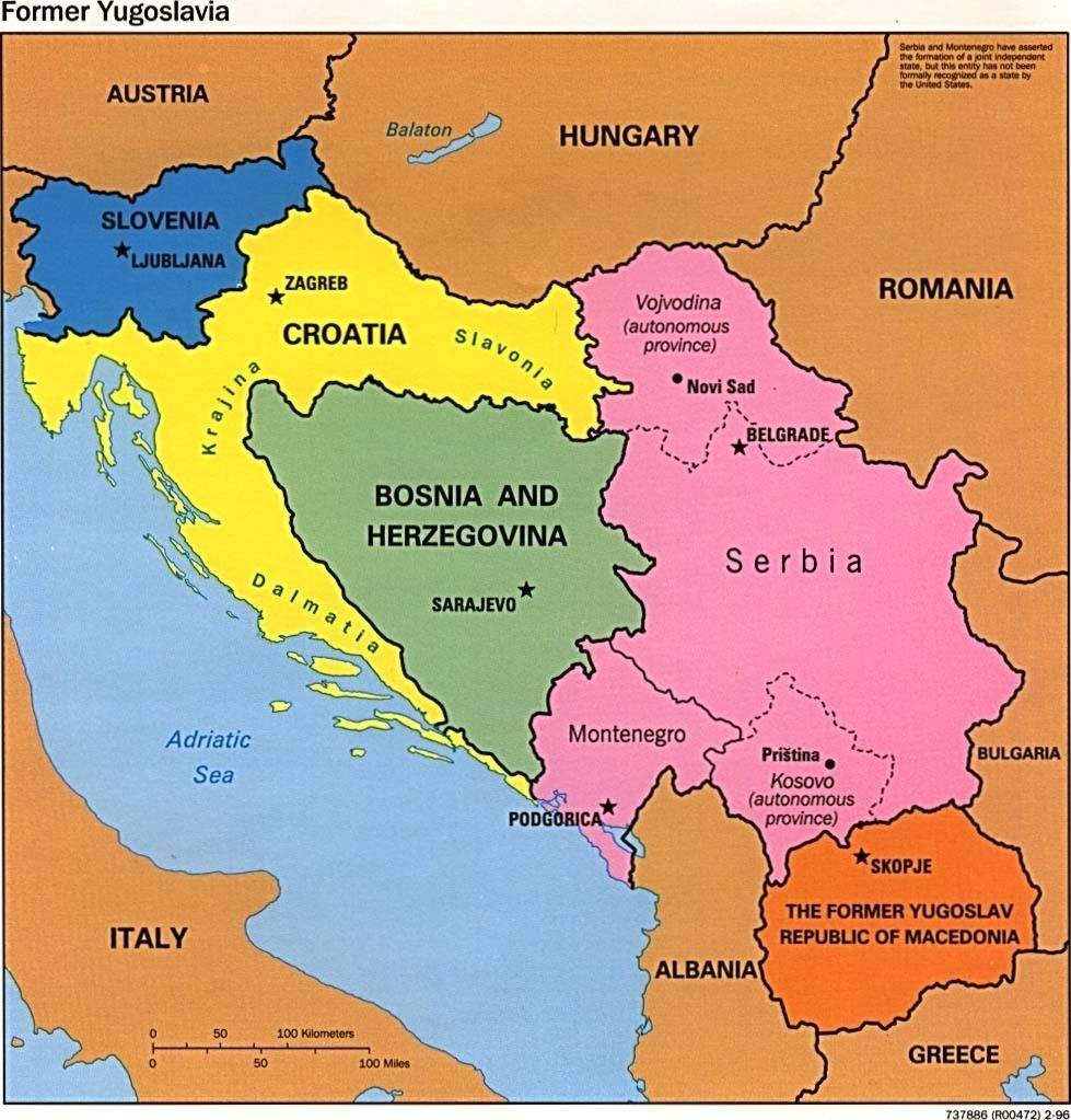 Image Map Yugoslaviajpg Cyber Nations Wiki FANDOM Powered - Where is montenegro
