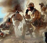 Troops attacking