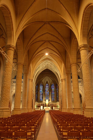 Nave of the Notre-Dame Cathedral in Luxembourg