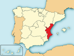 Location of Valencia