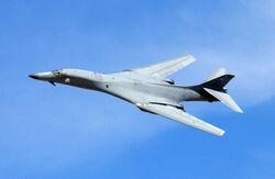 B-1 wings swept