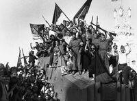 LSF militias celebrate