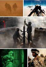 Afghanistan war 2001 collage