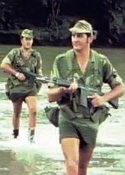 Rhodesian reservists on patrol