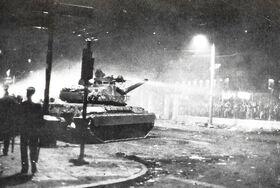 Tank during 17 November 1973