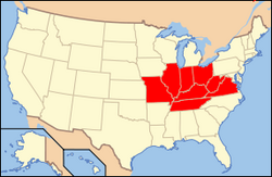 Map of socialist Kentuckya
