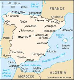 Spainregionmap