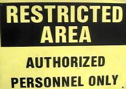 Sign restrictedarea