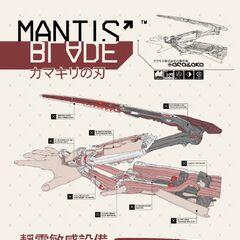 Arasaka Mantis Blade Diagram
