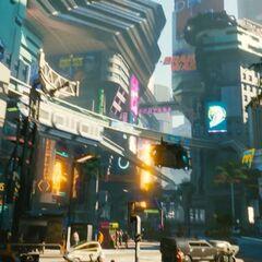 Night City, wczesny gameplay <a href=