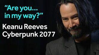 Keanu Reeves Cyberpunk 2077 interview at E3 BBC Newsbeat