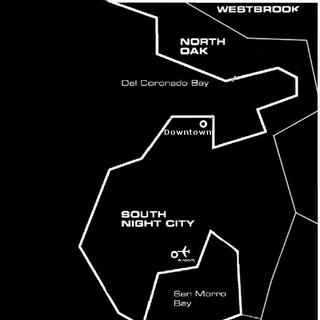 Mapa Night City z <a href=