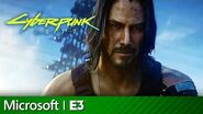 Cyberpunk 2077 Full Presentation With Keanu Reeves Microsoft Xbox E3 2019