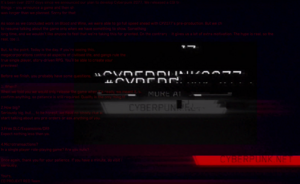E3 trailer hidden message - Cyberpunk 2077