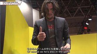 2019 Keanu Reeves in Japan Tokyo Game Show Cyberpunk 2077