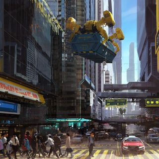 Concept Art of Downtown