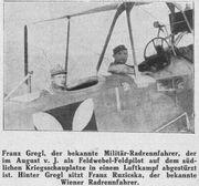 Gregl Franz als piloot