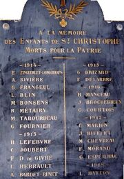 Herdenkingsplaat Kerk Saint-Christophe