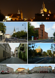 Collage of views of Piotrkow Trybunalski