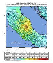 Shakemap Earthquake 24 Aug 2016 Italy