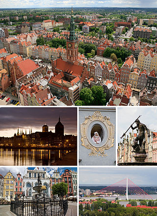 Collage of views of Gdansk