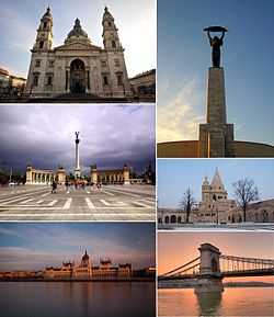 Montage of Budapest