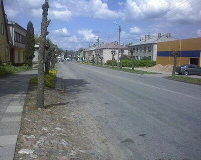 Užventis.centrinė gatvė