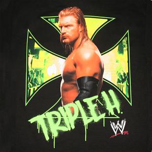 WWE TripleH Cross Black Shirt