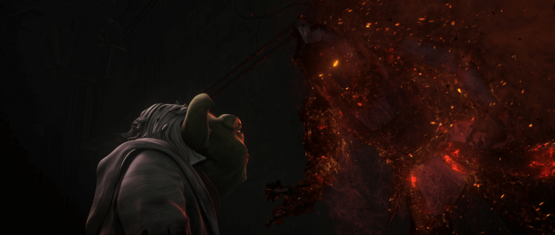 Yoda encounters a vision of Darth Bane in Star Wars The Clone Wars