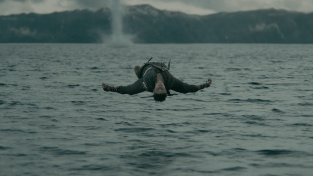 Vikings episode The Vision Ivar levitates above water