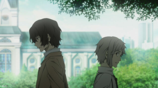 Dazai and Atsushi from Bungo Stray Dogs Dead Apple