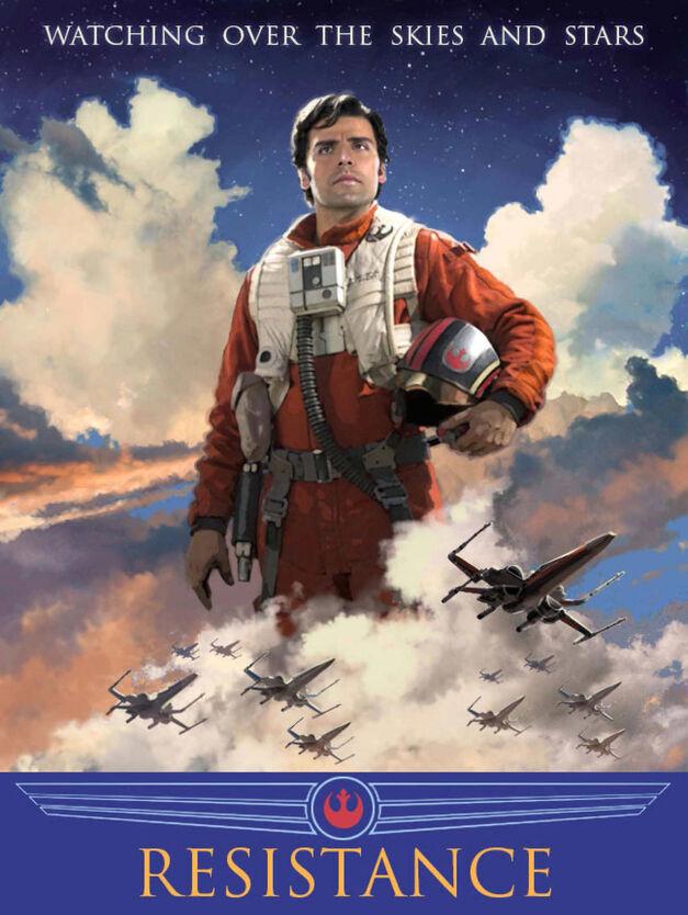 Star Wars propaganda poster the resistance