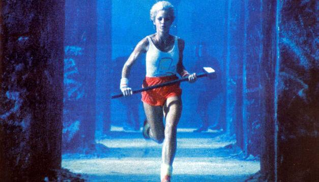 Ridley Scott 1984 Apple ad runner with sledgehammer