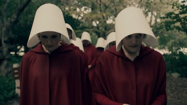 Ofglen and Offred in The Handmaid's Tale