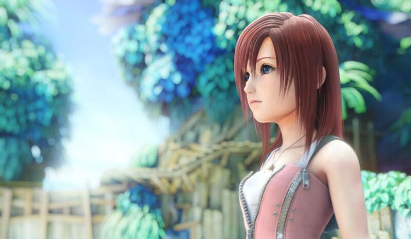 Kairi in the opening to Kingdom Hearts II
