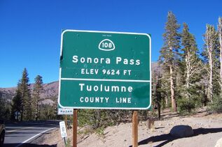 Sonora Pass Sign