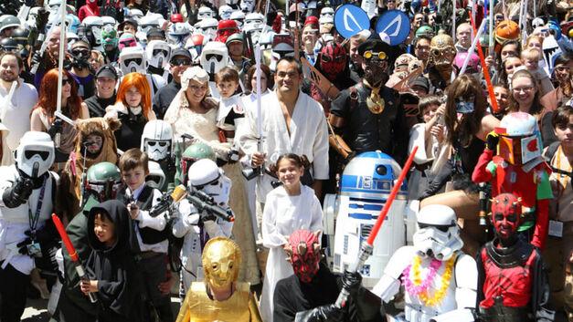 Fan group fun at Star Wars Celebration.
