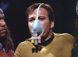 star-trek-original-series-the-cloud-minders Kirk wearing gas mask