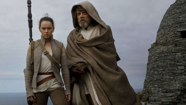 Luke and Rey in 'The Last Jedi'