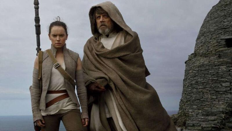 Luke and Rey in 'The Last Jedi'