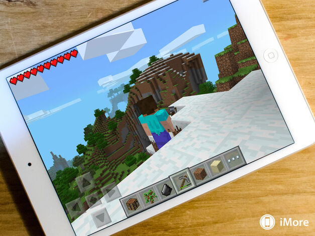 Minecraft can be enjoyed greatly on a tablet.